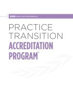 2020 Practice Transition Accreditation Program Application Manual